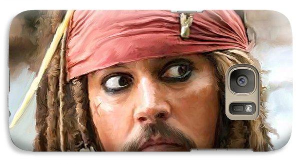 Jack Sparrow Galaxy S7 Case by Paul Tagliamonte
