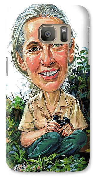 Jane Goodall Galaxy S7 Case by Art
