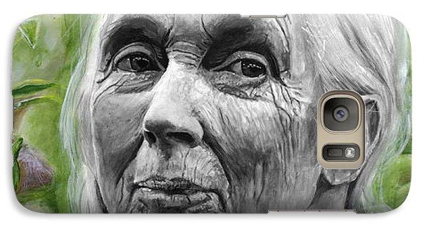 Jane Goodall Galaxy Case by Simon Kregar
