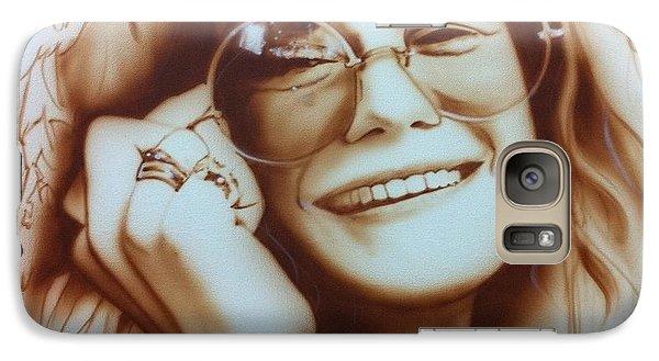 Janis Joplin - ' Janis ' Galaxy Case by Christian Chapman Art