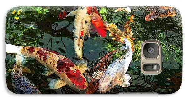 Japanese Koi Fish Pond Galaxy Case by Jennie Marie Schell