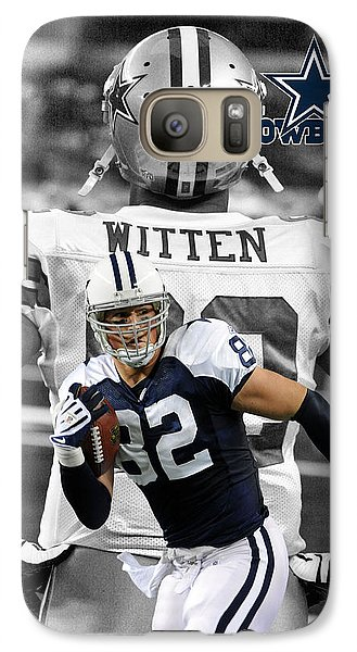 Jason Witten Cowboys Galaxy S7 Case by Joe Hamilton