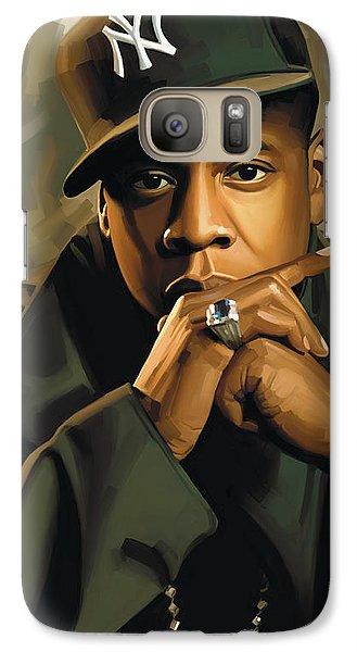 Jay-z Artwork 2 Galaxy Case by Sheraz A
