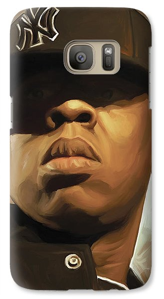 Jay-z Artwork Galaxy Case by Sheraz A
