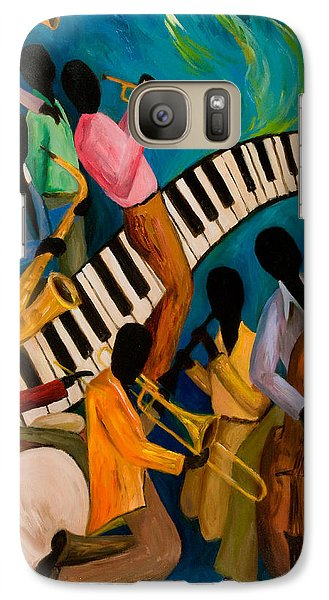 Jazz On Fire Galaxy S7 Case by Larry Martin