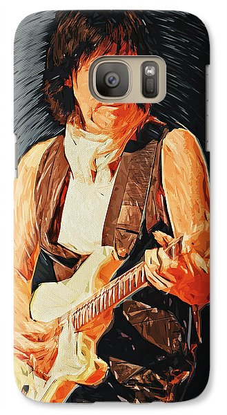 Jeff Beck Galaxy S7 Case by Taylan Apukovska