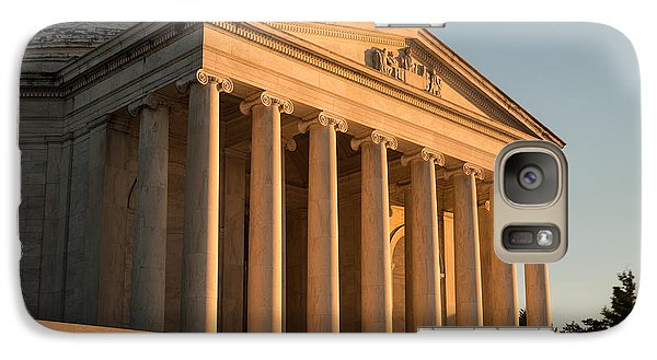 Jefferson Memorial Sunset Galaxy S7 Case by Steve Gadomski