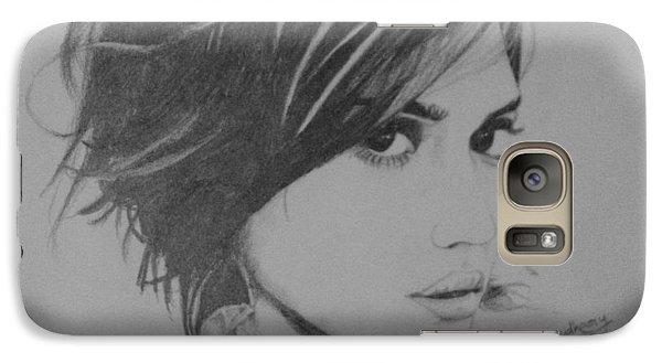 Jessica Alba Galaxy S7 Case by Ankur Choudhary