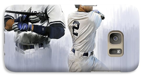 Jeter V Derek Jeter Galaxy Case by Iconic Images Art Gallery David Pucciarelli