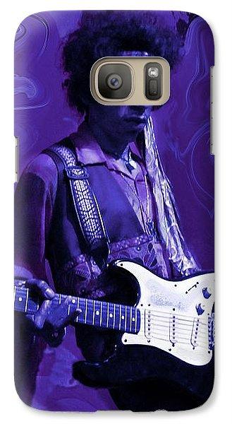 Jimi Hendrix Purple Haze Galaxy S7 Case by David Dehner
