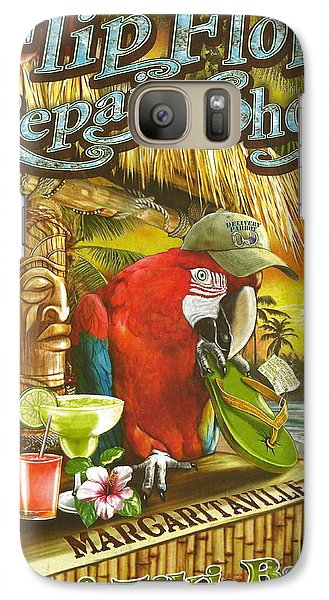 Jimmy Buffett's Flip Flop Repair Shop Galaxy Case by Desiderata Gallery
