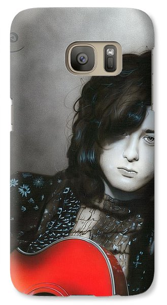' Jimmy Page ' Galaxy Case by Christian Chapman Art
