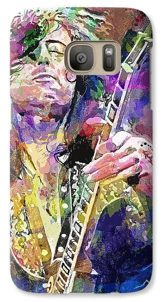 Jimmy Page Electric Galaxy Case by David Lloyd Glover