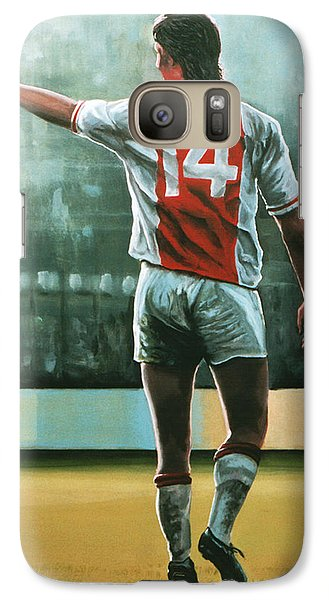 Johan Cruijff Nr 14 Painting Galaxy Case by Paul Meijering