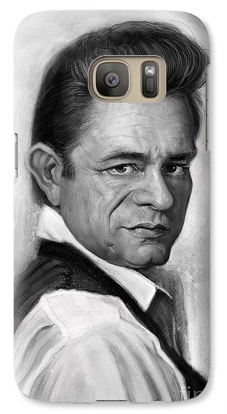 Johnny Cash Galaxy S7 Case by Andre Koekemoer