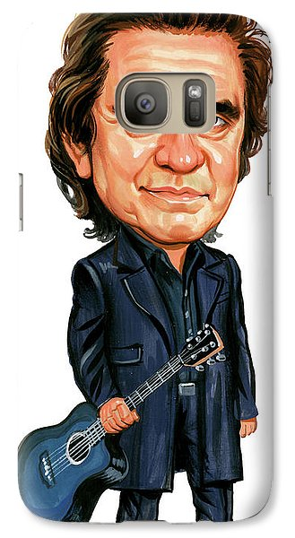 Johnny Cash Galaxy Case by Art