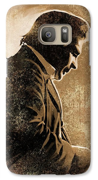 Johnny Cash Artwork Galaxy Case by Sheraz A