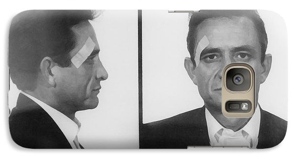 Johnny Cash Folsom Prison Galaxy S7 Case by David Millenheft