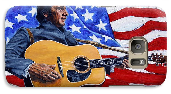 Johnny Cash Galaxy Case by John Lautermilch