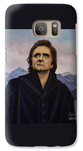 Johnny Cash Painting Galaxy Case by Paul Meijering