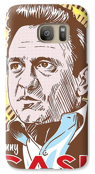 Johnny Cash Pop Art Galaxy S7 Case by Jim Zahniser