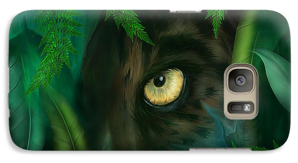 Jungle Eyes - Panther Galaxy S7 Case by Carol Cavalaris