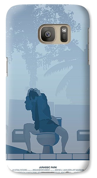 Jurassic Park Poster - Feat. Gennaro Galaxy Case by Peter Cassidy
