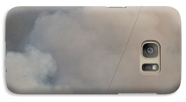 Galaxy Case featuring the photograph K-max Helicopter On Myrtle Fire by Bill Gabbert