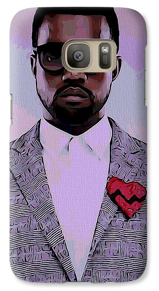 Kanye West Poster Galaxy Case by Dan Sproul