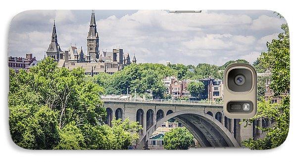 Key Bridge And Georgetown University Galaxy Case by Bradley Clay