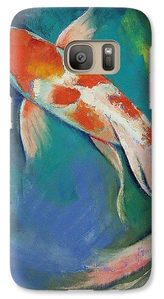 Kohaku Butterfly Koi Galaxy S7 Case by Michael Creese