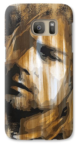 Kurt Cobain Tormented  Galaxy S7 Case by Brad Jensen