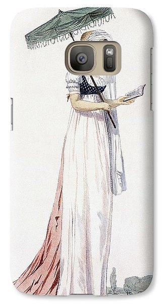 Ladies Elegant Summer Dress Galaxy S7 Case by English School