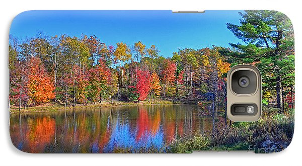 Galaxy Case featuring the photograph Lake In The Woods by Rodney Campbell