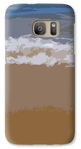 Lake Michigan Shoreline Galaxy Case by Michelle Calkins