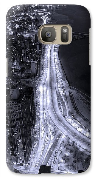 Lake Shore Drive Aerial  B And  W Galaxy Case by Steve Gadomski