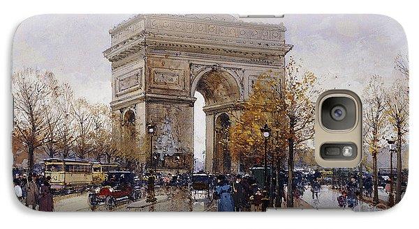 L'arc De Triomphe Paris Galaxy S7 Case by Eugene Galien-Laloue