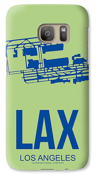 Lax Airport Poster 1 Galaxy Case by Naxart Studio