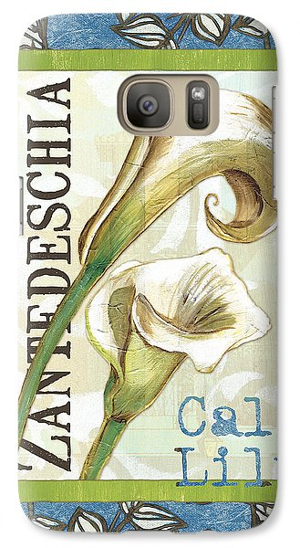 Lazy Daisy Lily 1 Galaxy Case by Debbie DeWitt