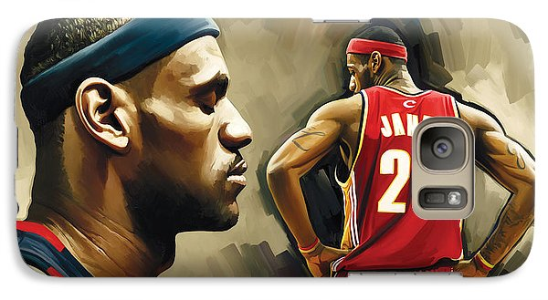Lebron James Artwork 1 Galaxy Case by Sheraz A