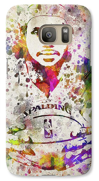 Lebron James In Color Galaxy S7 Case by Aged Pixel