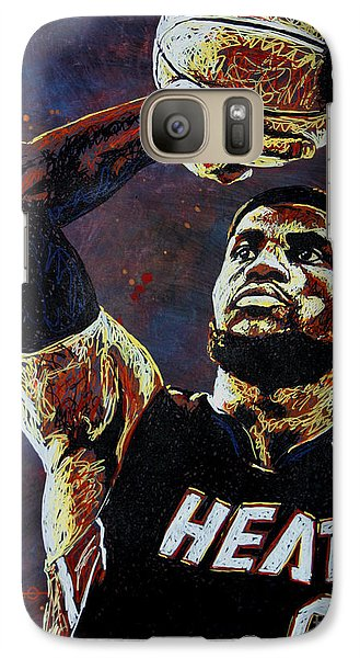 Lebron James Mvp Galaxy Case by Maria Arango