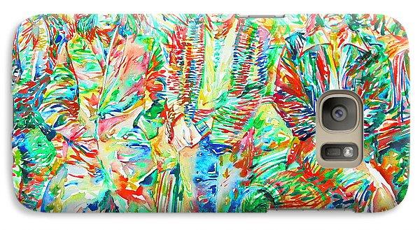 Led Zeppelin - Watercolor Portrait.1 Galaxy S7 Case by Fabrizio Cassetta