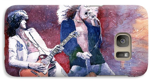 Led Zeppelin Jimmi Page And Robert Plant  Galaxy Case by Yuriy  Shevchuk