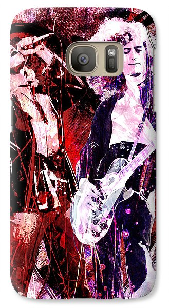 Led Zeppelin - Jimmy Page And Robert Plant Galaxy Case by Ryan Rock Artist