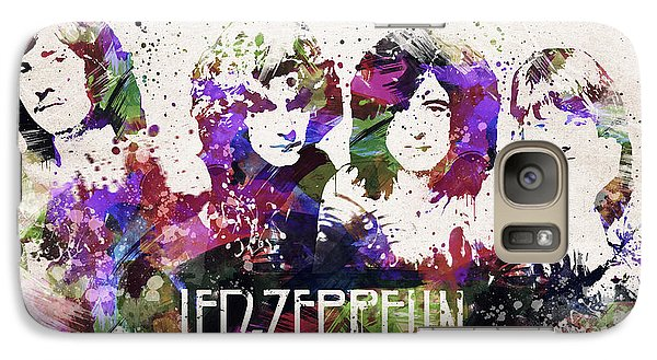 Led Zeppelin Portrait Galaxy Case by Aged Pixel