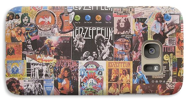 Led Zeppelin Years Collage Galaxy Case by Donna Wilson