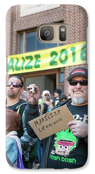 Legalisation Of Marijuana Rally Galaxy S7 Case by Jim West
