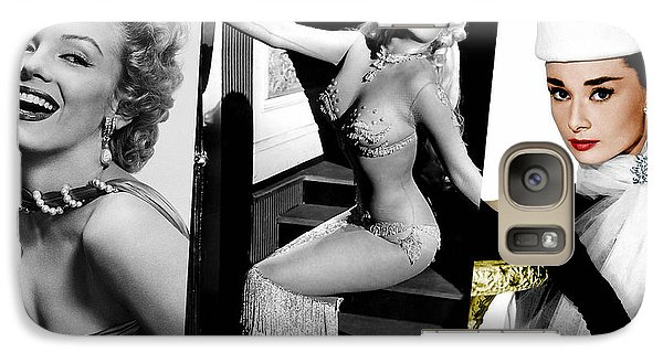 Legends Marilyn Monroe Jane Mansfield And Audrey Hepburn Galaxy Case by Marvin Blaine