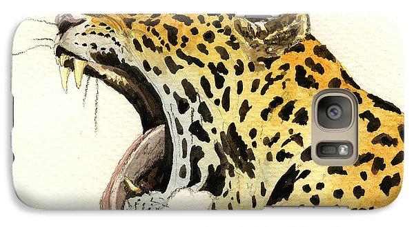 Leopard Head Galaxy Case by Juan  Bosco